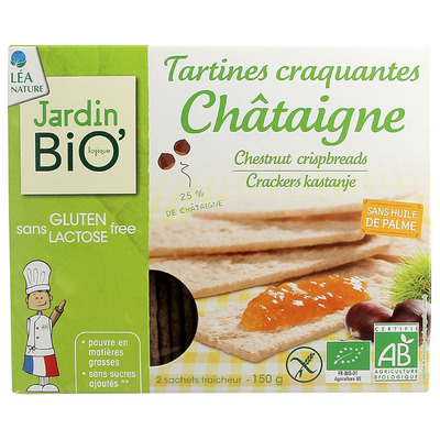 Chataigne Crackers kastanje glutenvrij