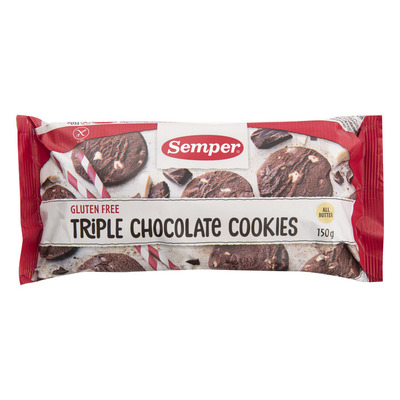 Semper Triple chocolate cookies glutenvrij