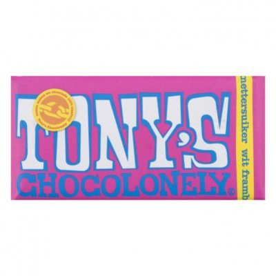 Tony's Chocolonely Wit framboos - knettersuiker