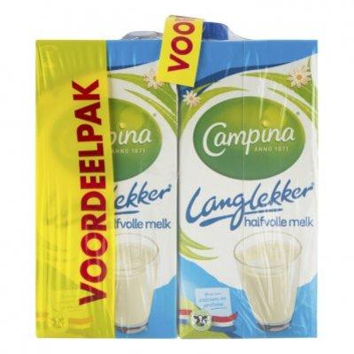 Campina Langlekker halfvolle melk voordeel