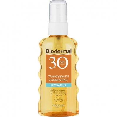 Biodermal Transparante zonnespray spf 30 175ml