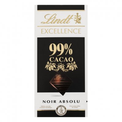 Lindt Excellence 99% cacao, dark noir