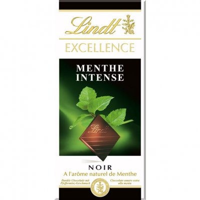 Lindt Excellence tablet mint intense