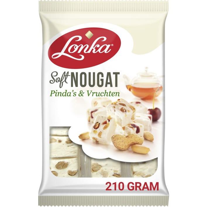 Lonka Soft nougat pinda's & vruchten