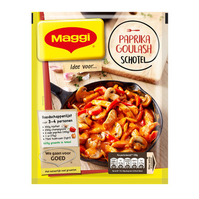 Maggi Dagschotel paprika-goulashsaus