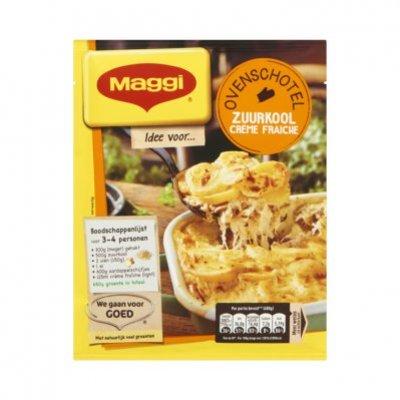 Maggi Ovenschotel zuurkool-crème fraîche