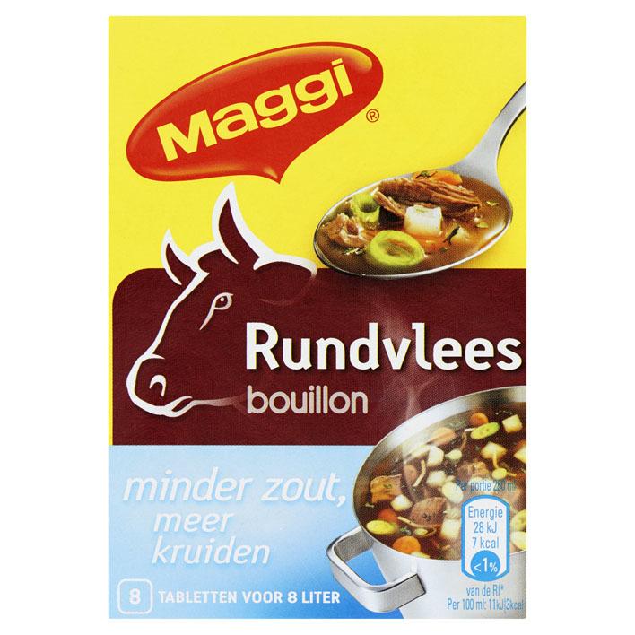 Maggi Rundvlees bouillon minder zout