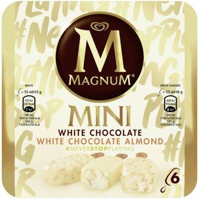 Magnum White chocolate & white almond mini ijs