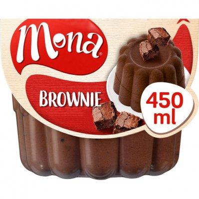 Mona Browniepudding met echte stukjes brownie