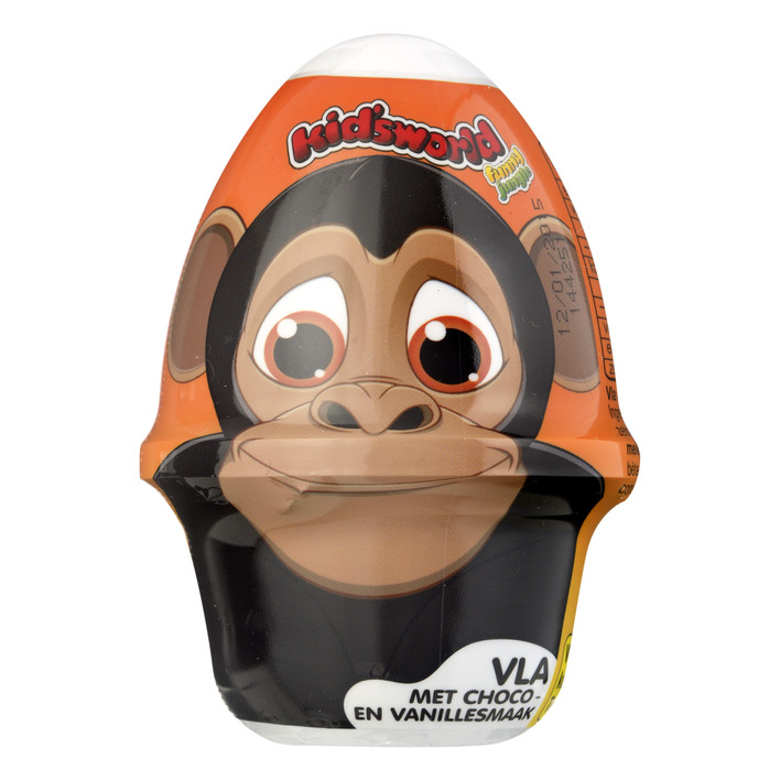 Kid's world Chocolade-vanillevla + verrassing