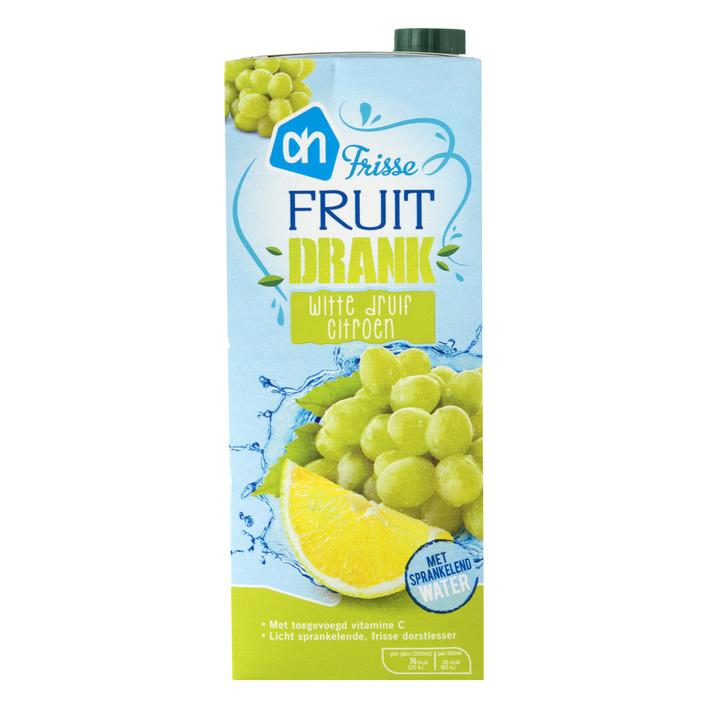 Huismerk Frisse fruitdrank witte druif-citroen