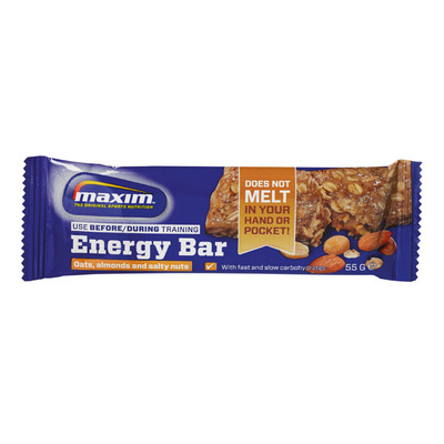 Maxim Oats, almonds and salty nuts energy bar