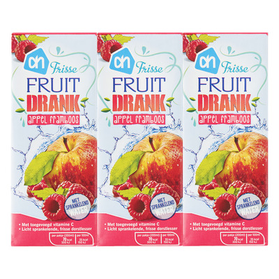 Huismerk Frisse fruitdrank appel-framboos