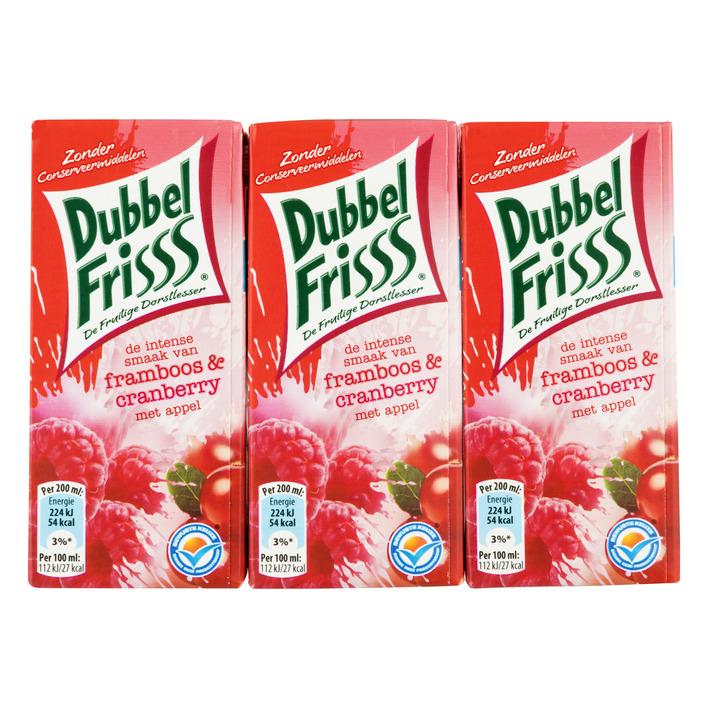 DubbelFrisss Framboos & cranberry multipack