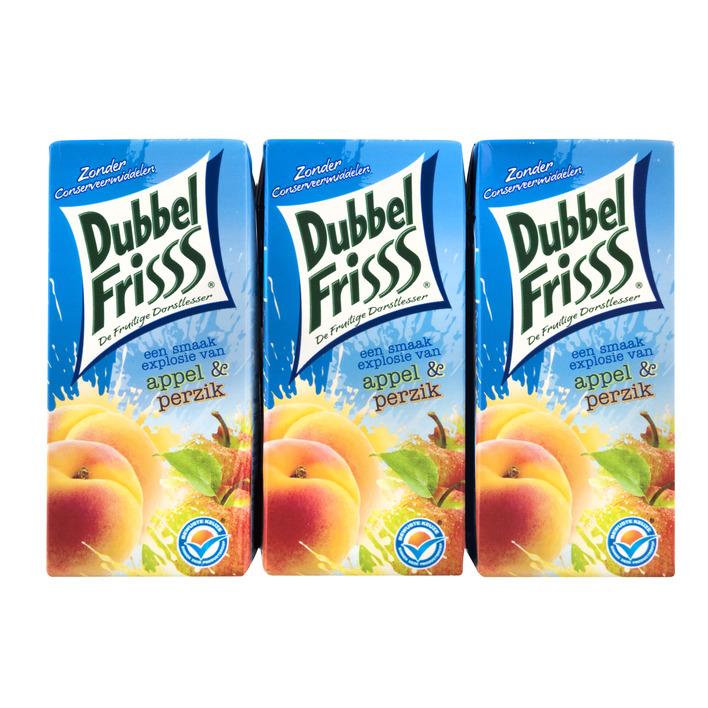 DubbelFrisss Appel & perzik multipack