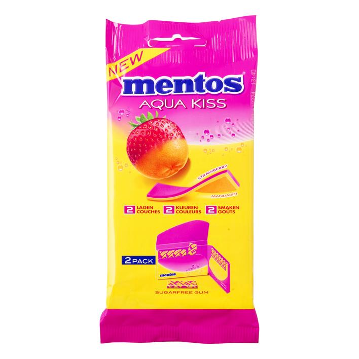 Mentos Gum Aqua kiss strawberry-mandarin