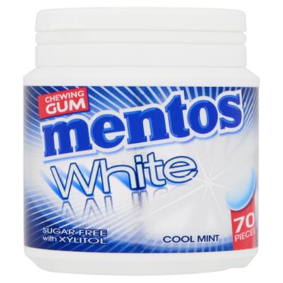 Mentos White Cool Mint pot 70 stuks