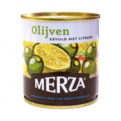 Merza Groene olijven gevuld met citroen