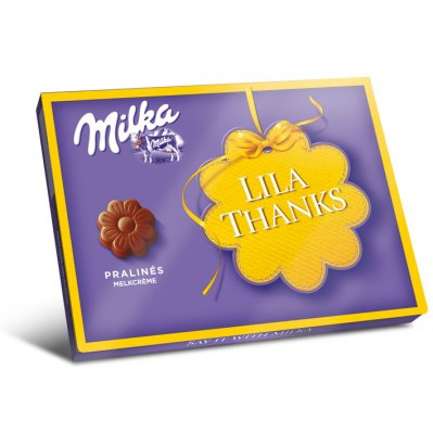 Milka pralines lila thanks crème