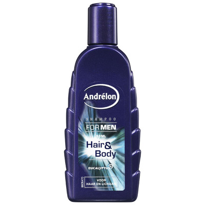 Andrélon Shampoo hair & body men mini