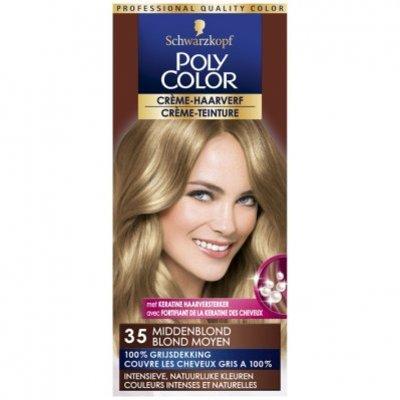 Schwarzkopf Poly color haarverf middenblond 35