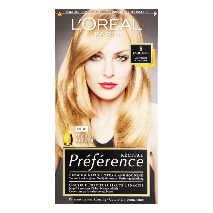 L'Oréal Préférence lichtblond 8
