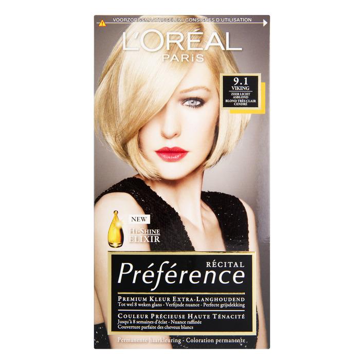 L'Oréal Préférence zeer licht asblond 9.1