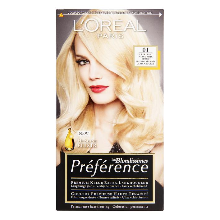 L'Oréal Préférence superlicht natuur blond 01