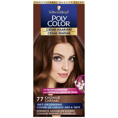 Schwarzkopf Poly Color crème haarverf 77 kastanje