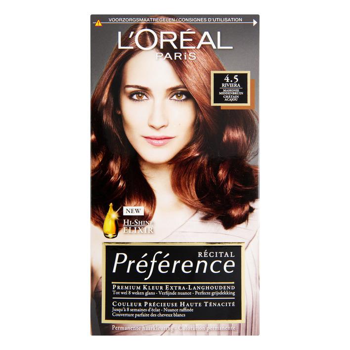 L'Oréal Préférence mahonie middenbruin 4.5