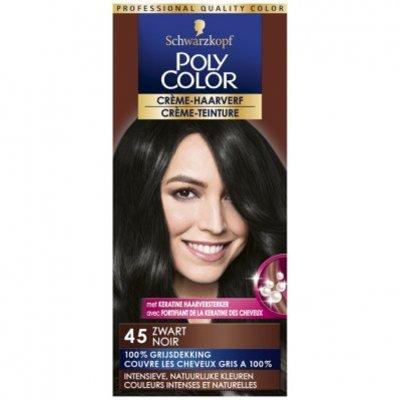 Schwarzkopf Poly color haarverf zwart 45