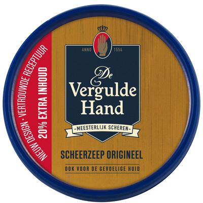 Vergulde Hand Scheerzeeptablet