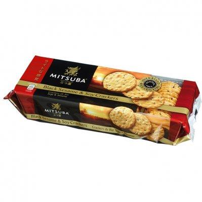 Mitsuba Black sesame & soy crackers