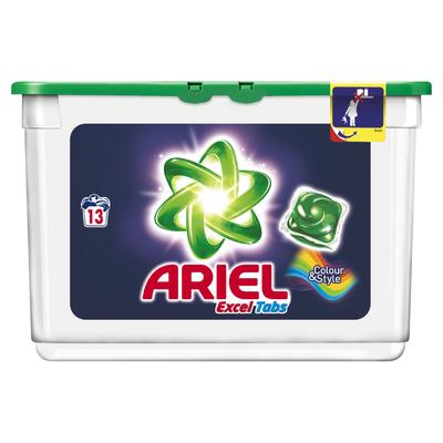 Ariel Excel Tabs Kleur & Stijl Wasmiddel Capsules 13 Wasbeurten
