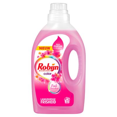 Robijn Wasmiddel Vloeibaar Color Pink Sensation 22 Wasbeurten