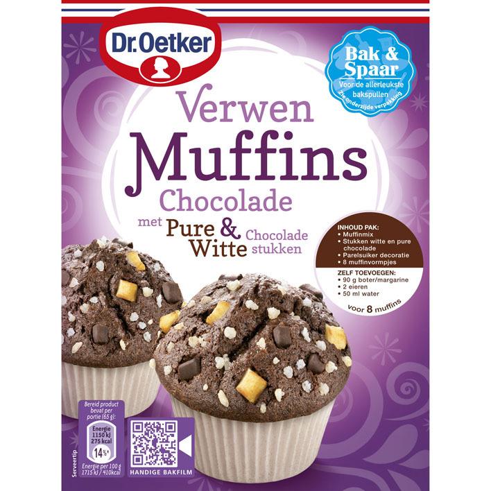 Dr. Oetker Verwen muffins met chocolade