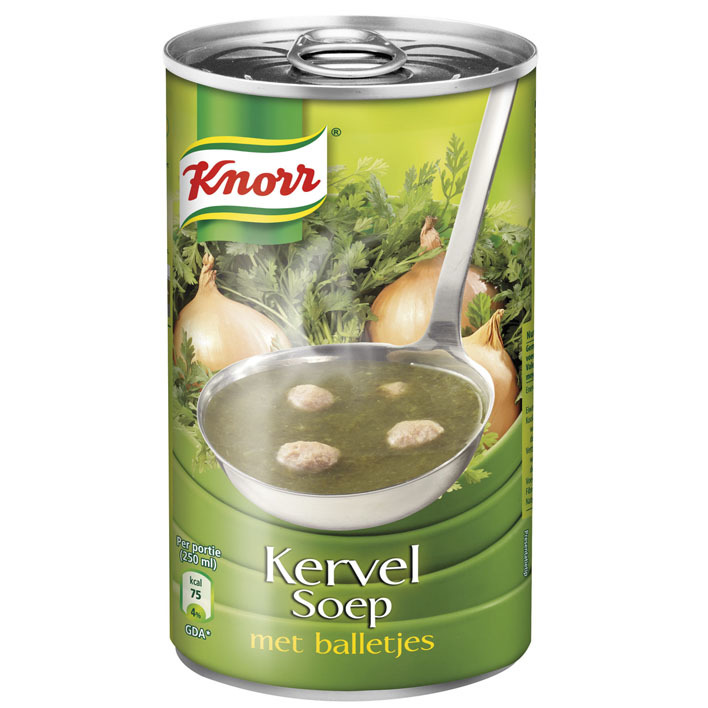 Knorr Kervelsoep met balletjes