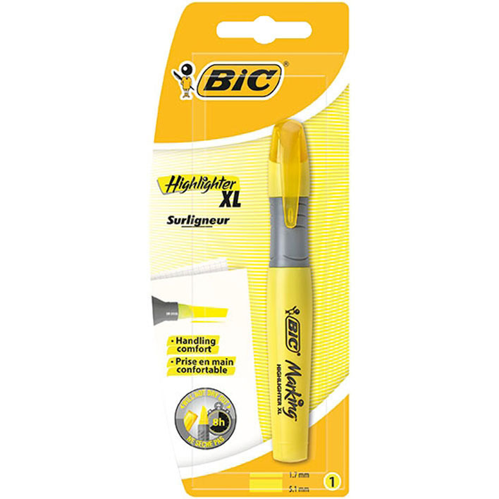 Bic Highlight markeerstift XL geel