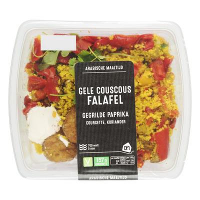 Huismerk Falafel met gele couscous
