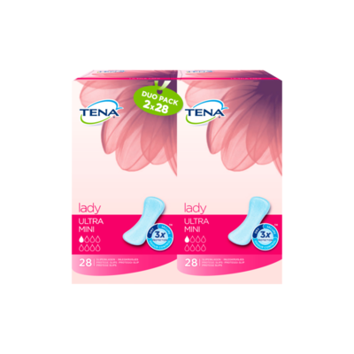 TENA Lady Discreet Ultra Mini Inlegkruisjes Duo Pack