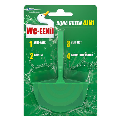 WC Eend Toiletblok aqua green