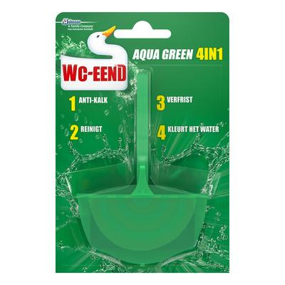 WC Eend Toiletblok aqua green