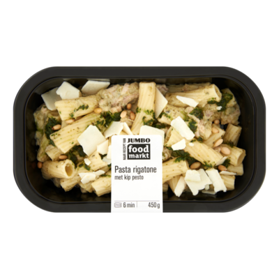 Huismerk Foodmarkt Verse Maaltijd Pasta Rigatone met Kip Pesto
