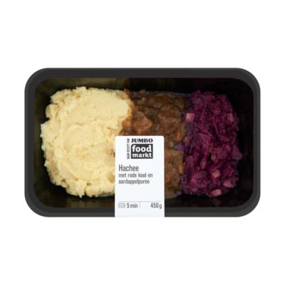 Huismerk Foodmarkt Verse Maaltijd Hachee met Rode Kool en Aardappelpuree