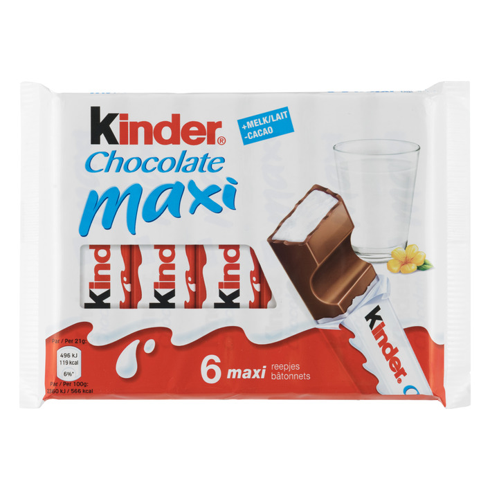 Kinder Chocolate maxi reepjes