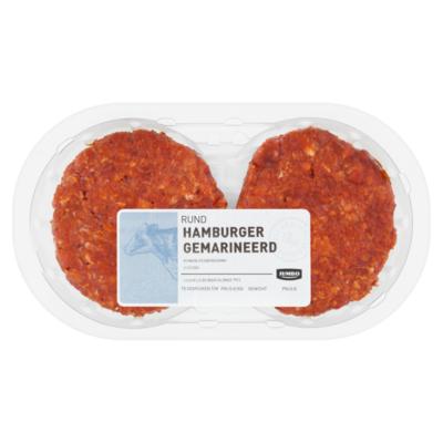 Huismerk Rund Hamburger Gemarineerd 2 Stuks