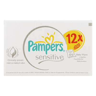 Pampers Babydoekjes sensitive 12-pak
