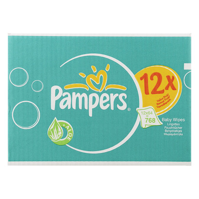 Pampers Babydoekjes fresh clean 12-pak