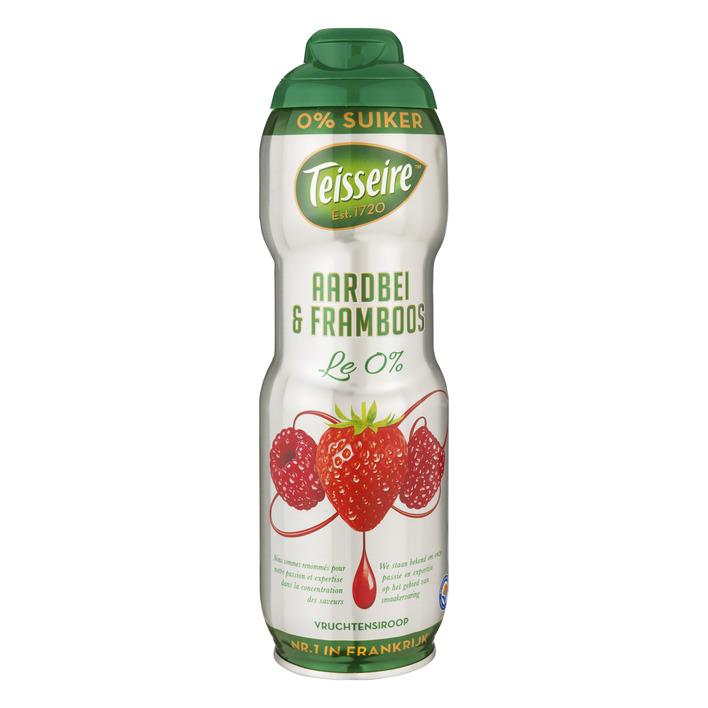 Teisseire Vruchtensiroop aardbei - framb 0% suiker