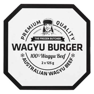 The Frozen Butcher Wagyu burger 100% wagyu beef